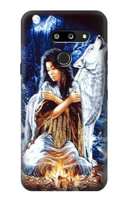 S0147 Grim Wolf Indian Girl Case For LG G8 ThinQ