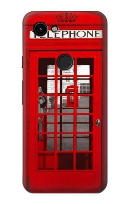 S0058 British Red Telephone Box Case For Google Pixel 3a