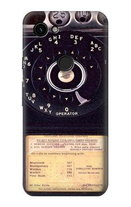 S0086 Payphone Vintage Case For Google Pixel 3a