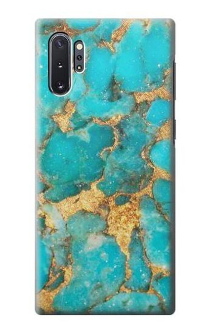 S2906 Aqua Turquoise Stone Case For Samsung Galaxy Note 10 Plus