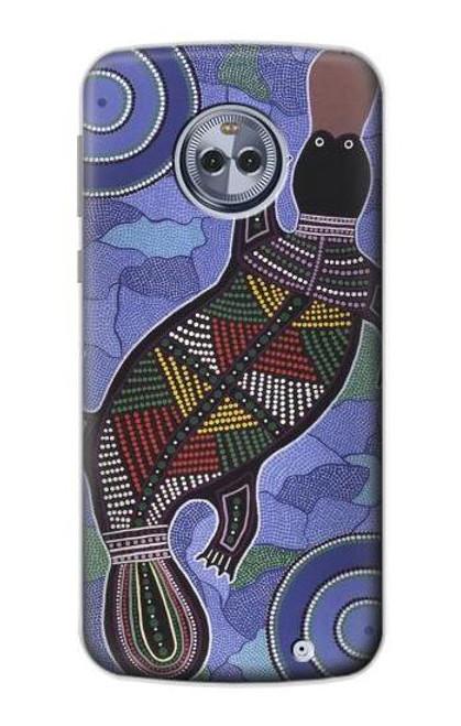 S3387 Platypus Australian Aboriginal Art Case For Motorola Moto X4