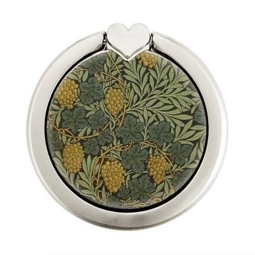 S3662 William Morris Vine Pattern Graphic Ring Holder and Pop Up Grip