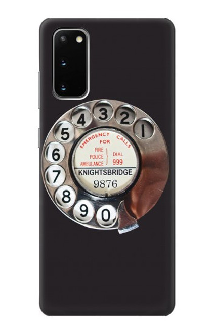 S0059 Retro Rotary Phone Dial On Case For Samsung Galaxy S20
