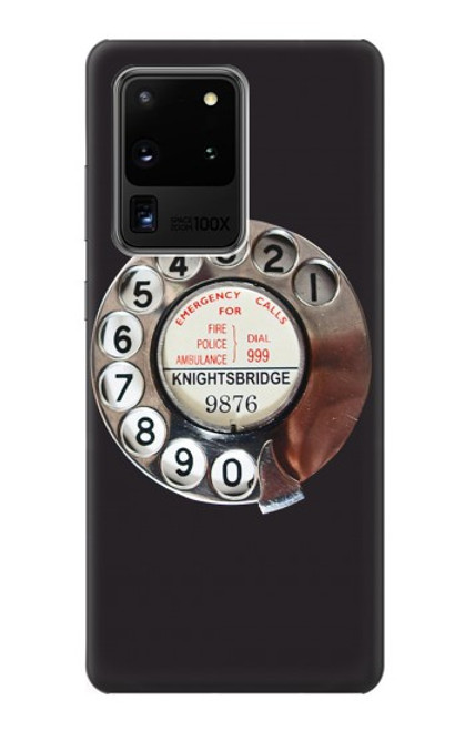 S0059 Retro Rotary Phone Dial On Case For Samsung Galaxy S20 Ultra