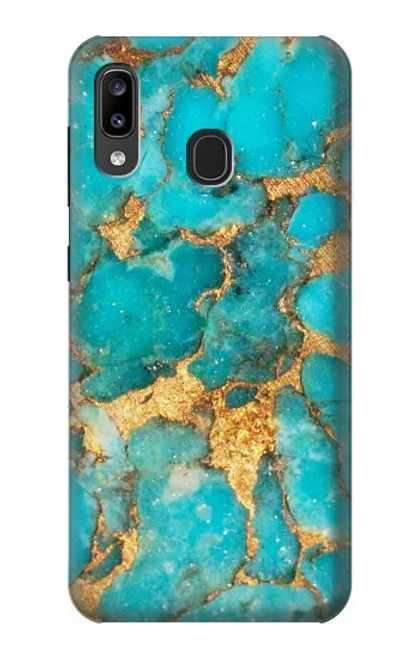 S2906 Aqua Turquoise Stone Case For Samsung Galaxy A20, Galaxy A30