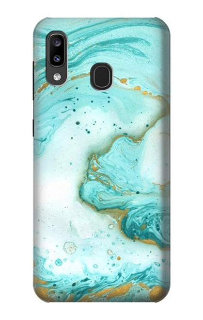 S3399 Green Marble Graphic Print Case For Samsung Galaxy A20, Galaxy A30