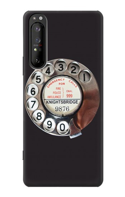 S0059 Retro Rotary Phone Dial On Case For Sony Xperia 1 II