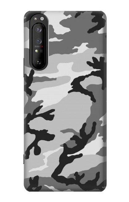 S1721 Snow Camouflage Graphic Printed Case For Sony Xperia 1 II