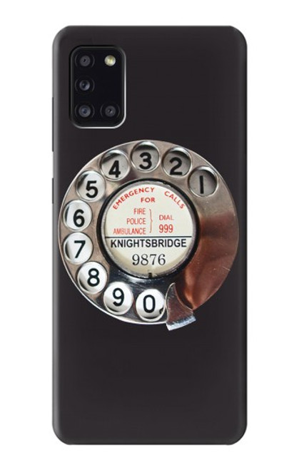 S0059 Retro Rotary Phone Dial On Case For Samsung Galaxy A31