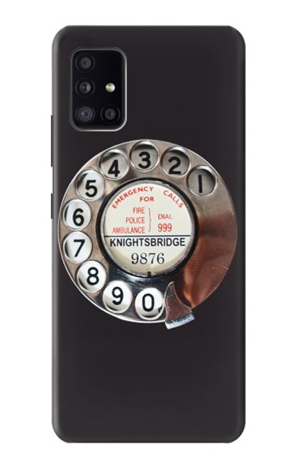 S0059 Retro Rotary Phone Dial On Case For Samsung Galaxy A41