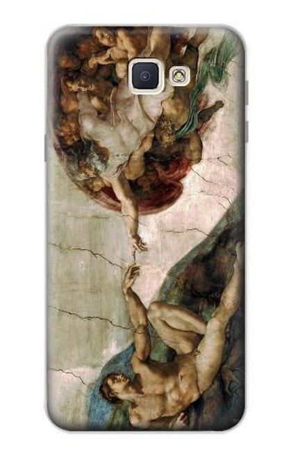 S0179 Michelangelo Creation of Adam Case For Samsung Galaxy J7 Prime