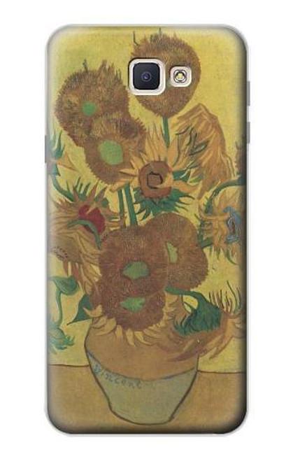 S0214 Van Gogh Vase Fifteen Sunflowers Case For Samsung Galaxy J7 Prime