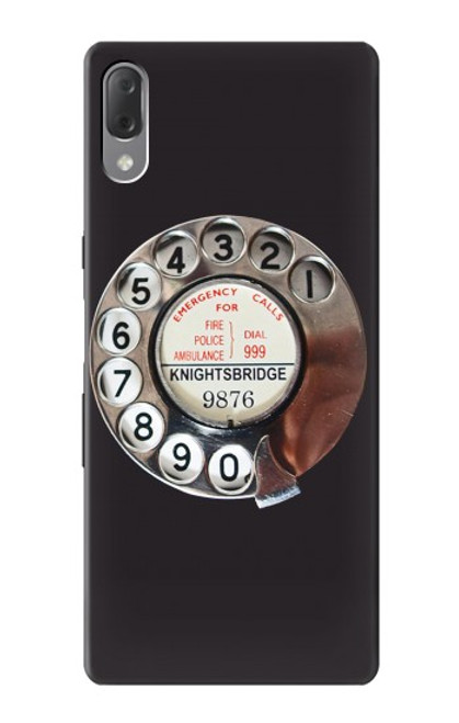 S0059 Retro Rotary Phone Dial On Case For Sony Xperia L3
