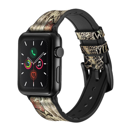 CA0014 Yakuza Tattoo Leather & Silicone Smart Watch Band Strap For Apple Watch iWatch