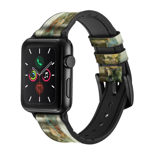 CA0016 Leonardo DaVinci The Last Supper Leather & Silicone Smart Watch Band Strap For Apple Watch iWatch