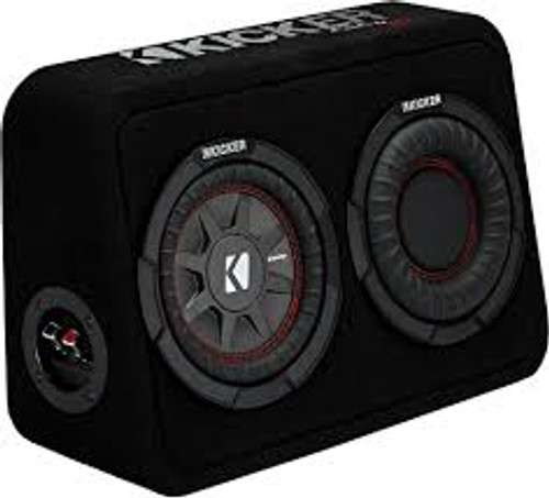 """Kicker CompRT 6.75"""" Subwoofer in Thin Profile Enclosure 4ohm"""