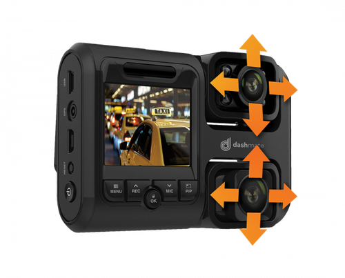 """Full HD Front & Infrared Cabin Dash Camera with 2.0"""" Screen, WIFI & GPS"""