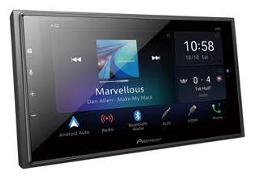 """Pioneer DMHZ6350BT 6.8"""" Capacitive Touch-screen """"Short Chassis"""" Multimedia player with Alexa Built-In, Apple CarPlay & Android Auto"""