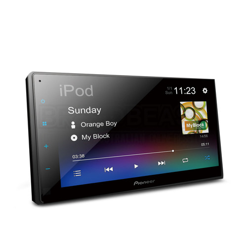 Pioneer DMH-A345BT 6.8″ Capacitive screen Digital Media AV Receiver with Bluetooth, iPhone, USB & Aux-In