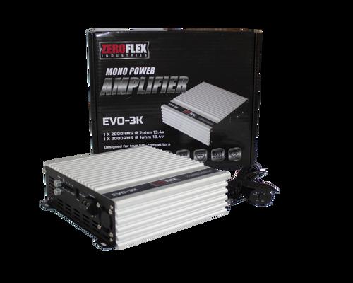 Zeroflex EVO-3K 1 x 3000rms @1ohm Amplifier with Bass Controller