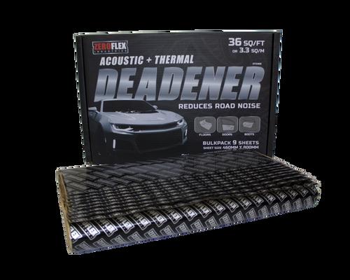 Zeroflex ZFD36B Sound Deadener 9 sheet bulk pack
