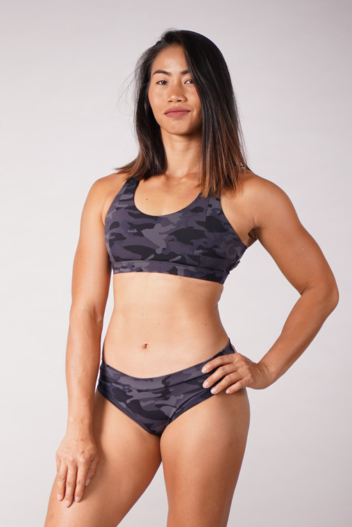 Off The Pole Criss Cross Bra in Camouflage