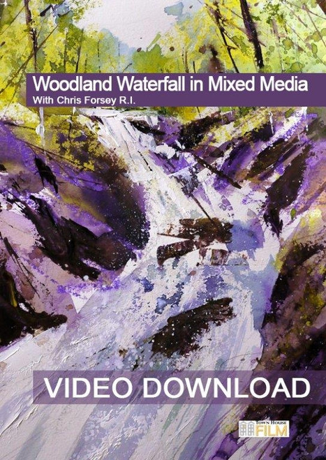 Woodland Waterfall In Mixed Media With Chris Forsey R.I.