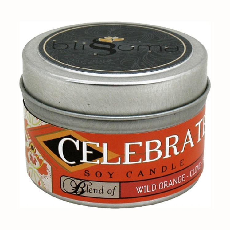 Celebrate Aromatherapy Soy Candle 4 oz tin