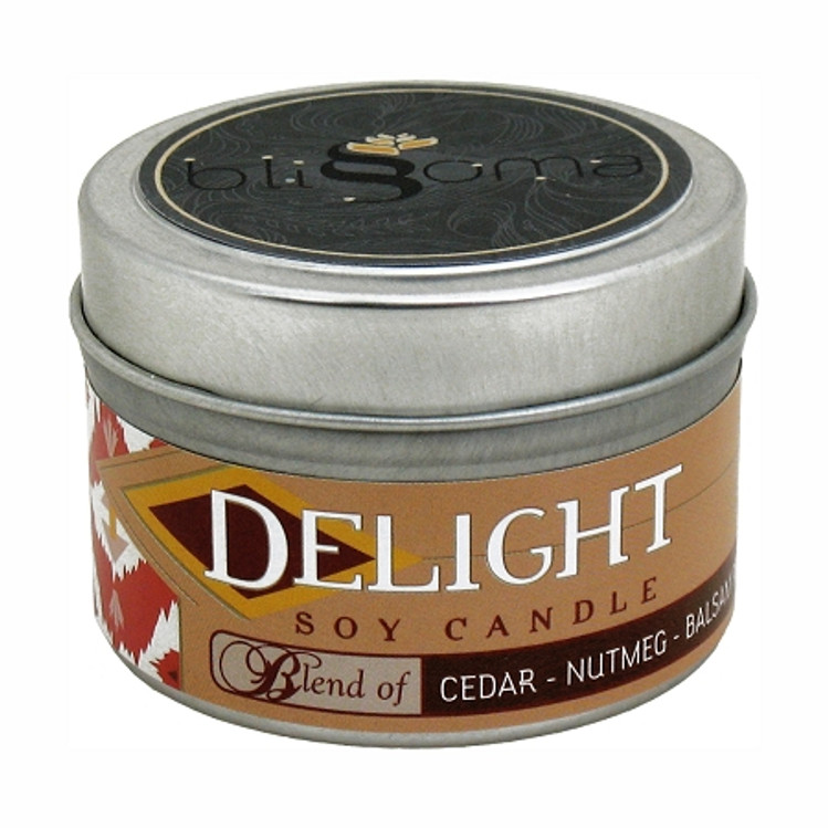 Delight Aromatherapy Soy Candle 4 oz tin