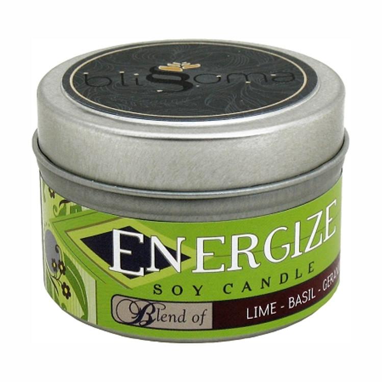 Energize Aromatherapy Soy Candle 4 oz tin