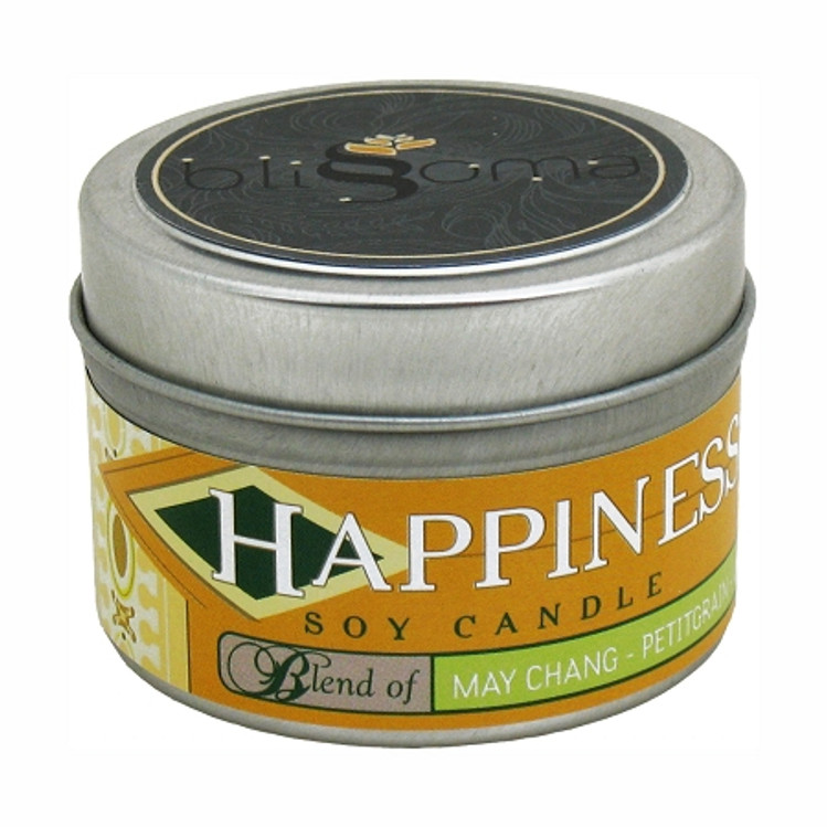 Happiness Aromatherapy Soy Candle 4 oz tin