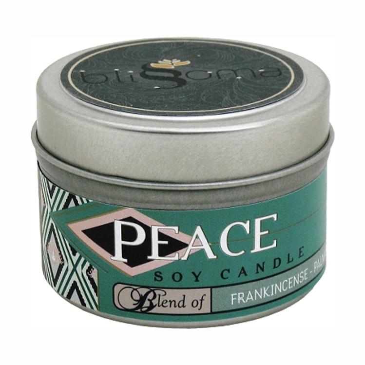Peace Aromatherapy Soy Candle 4 oz tin