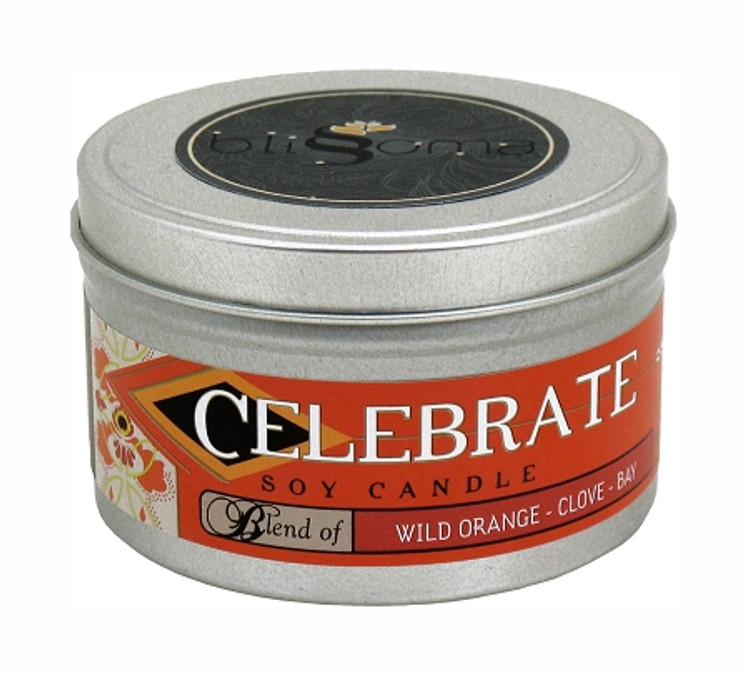 Celebrate Aromatherapy Soy Candle 8 oz tin
