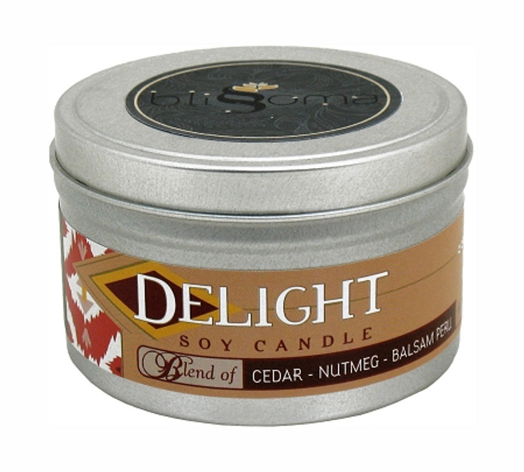Delight Aromatherapy Soy Candle 8 oz tin