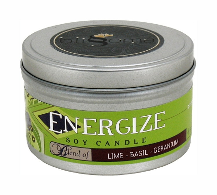 Energize Aromatherapy Soy Candle 8 oz tin