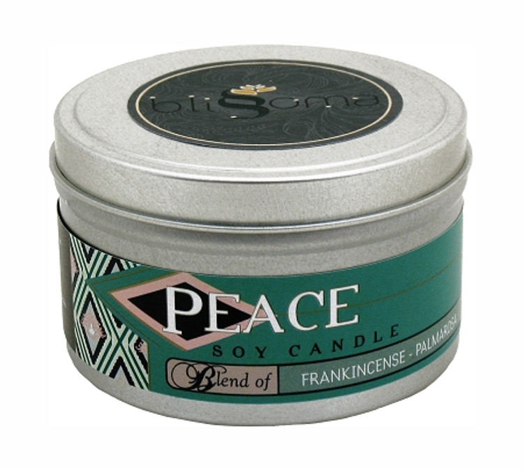 Peace Aromatherapy Soy Candle 8 oz tin