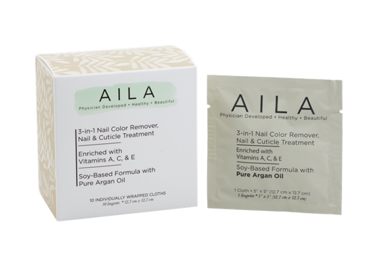Aila 3 in 1 Nail Color Remover Cloths