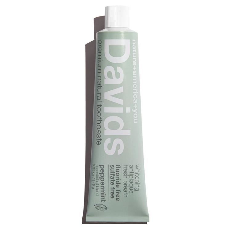 Davids Premium Natural Toothpaste in Original Peppermint