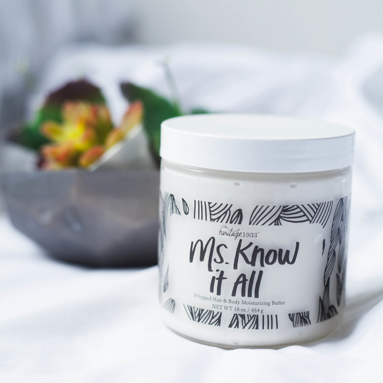 Ms. Know It All: Whipped Hair & Body Moisturizing Butter