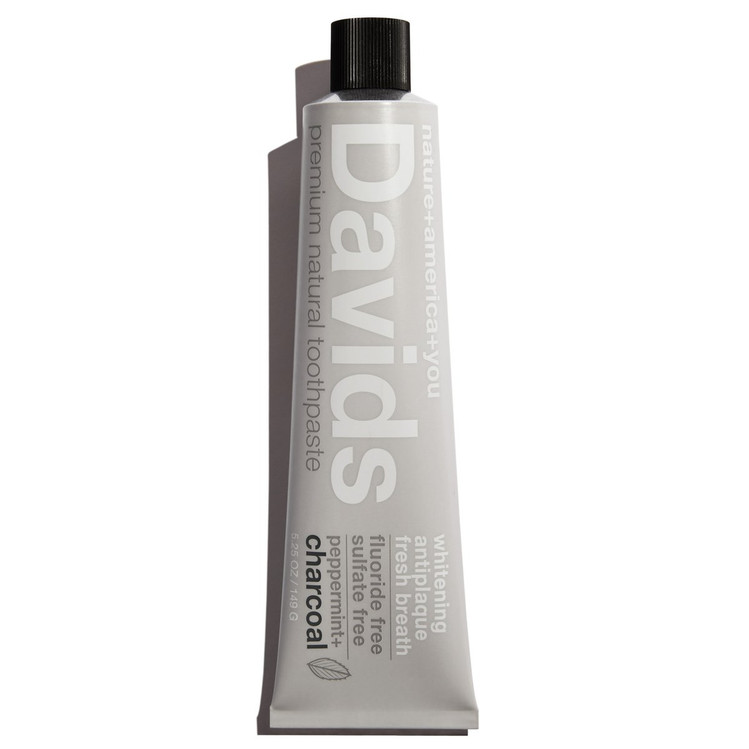 David's Premium Natural Toothpaste in Charcoal Peppermint