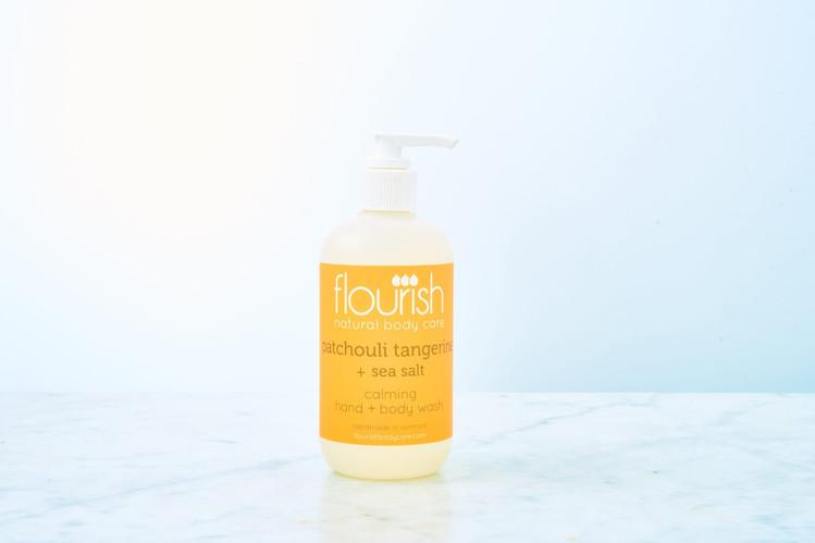 Flourish Patchouli Tangerine+SeaSalt Calming Hand+Body Wash