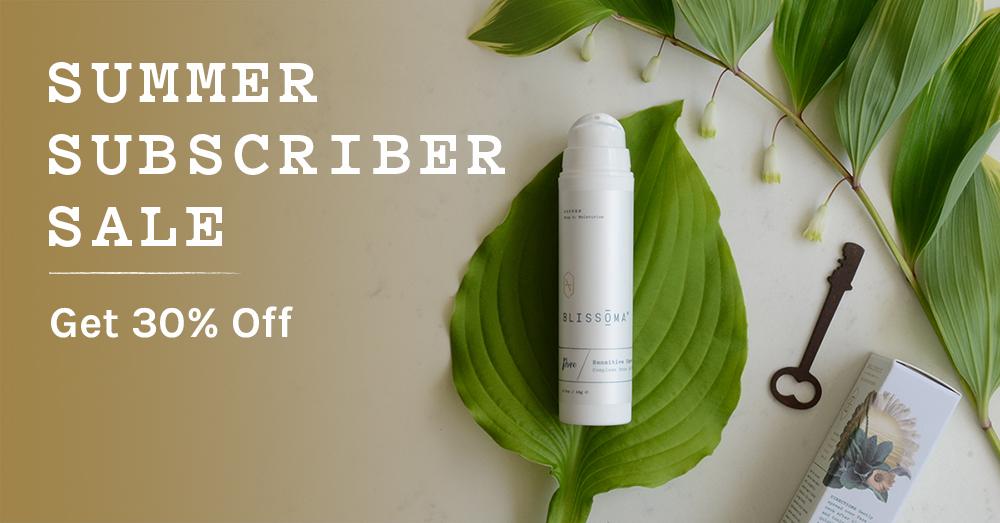 blissoma plant based organic skincare for sensitive skin