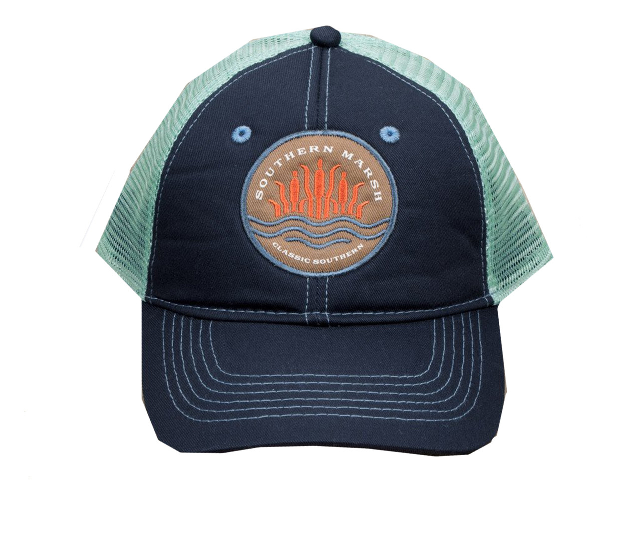 Southern Marsh Trucker Hat-Cattail - Trenz Shirt Company 48c466a409f