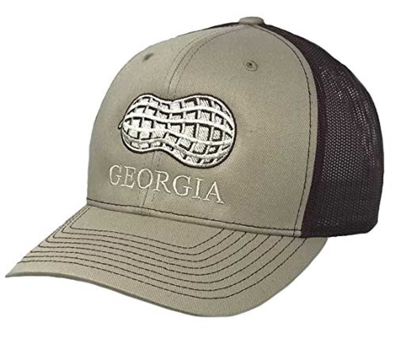 bdc9bdc02df Heritage Pride Georgia Peanut Embroidered Trucker Hat-Khaki