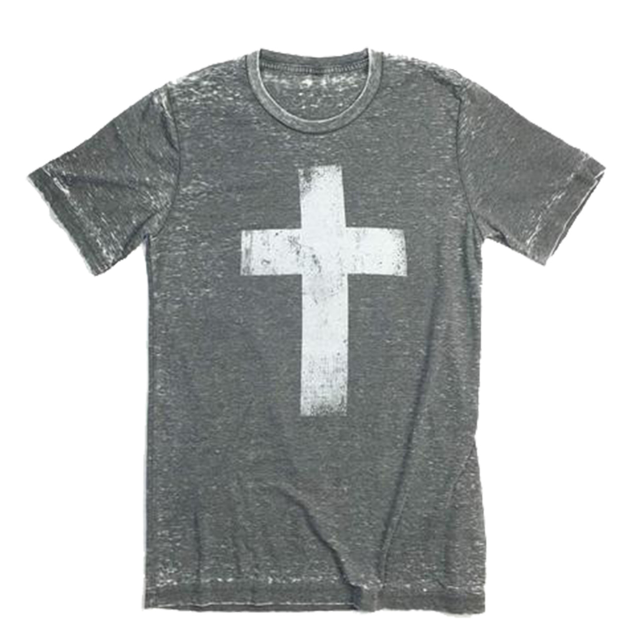 425a974ae7 Crazy Cool Threads Cross Acid Wash T-shirt - Trenz Shirt Company
