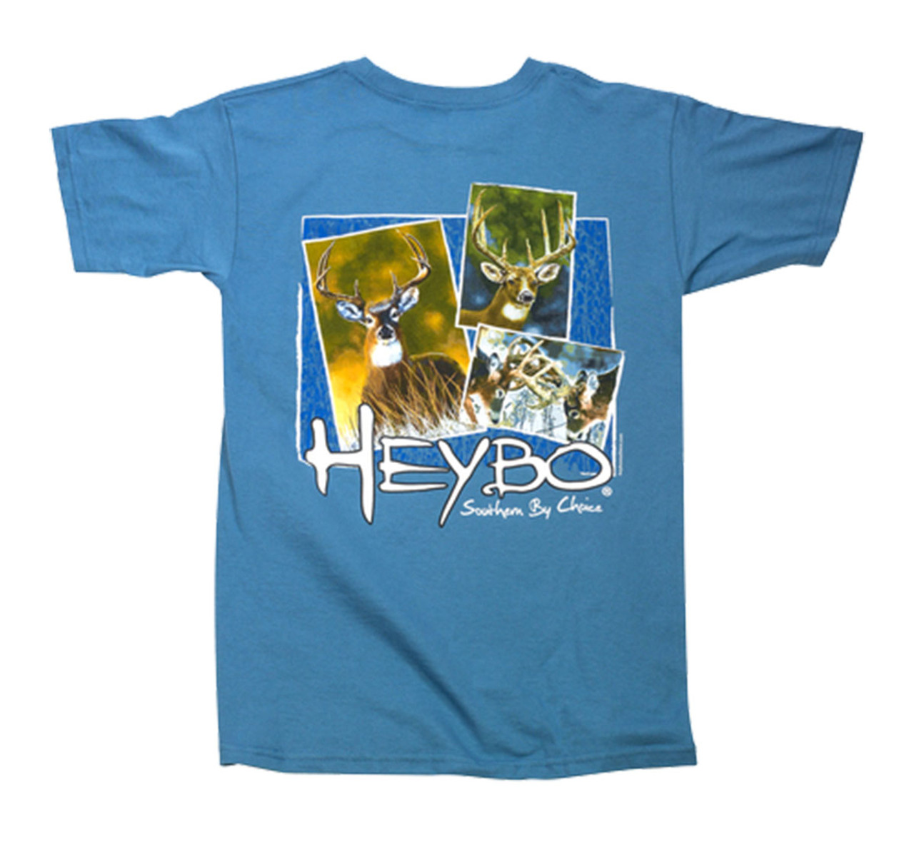 69ffca56 Heybo Men's Deer Collage Short Sleeve T-shirt - Trenz Shirt Company