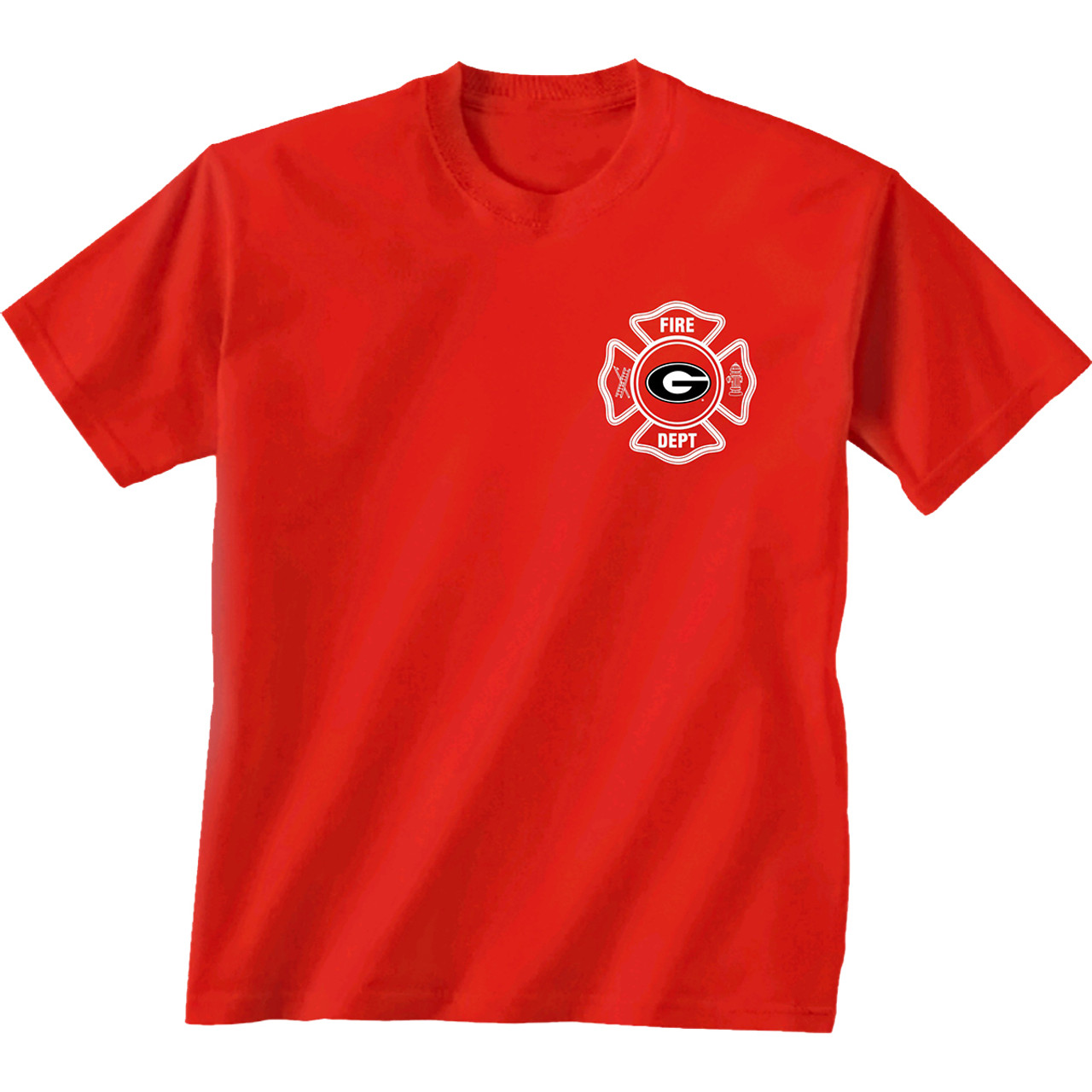 5e64fe75 University Of Georgia Bulldogs Firefighter Youth T-Shirt - Trenz Shirt  Company