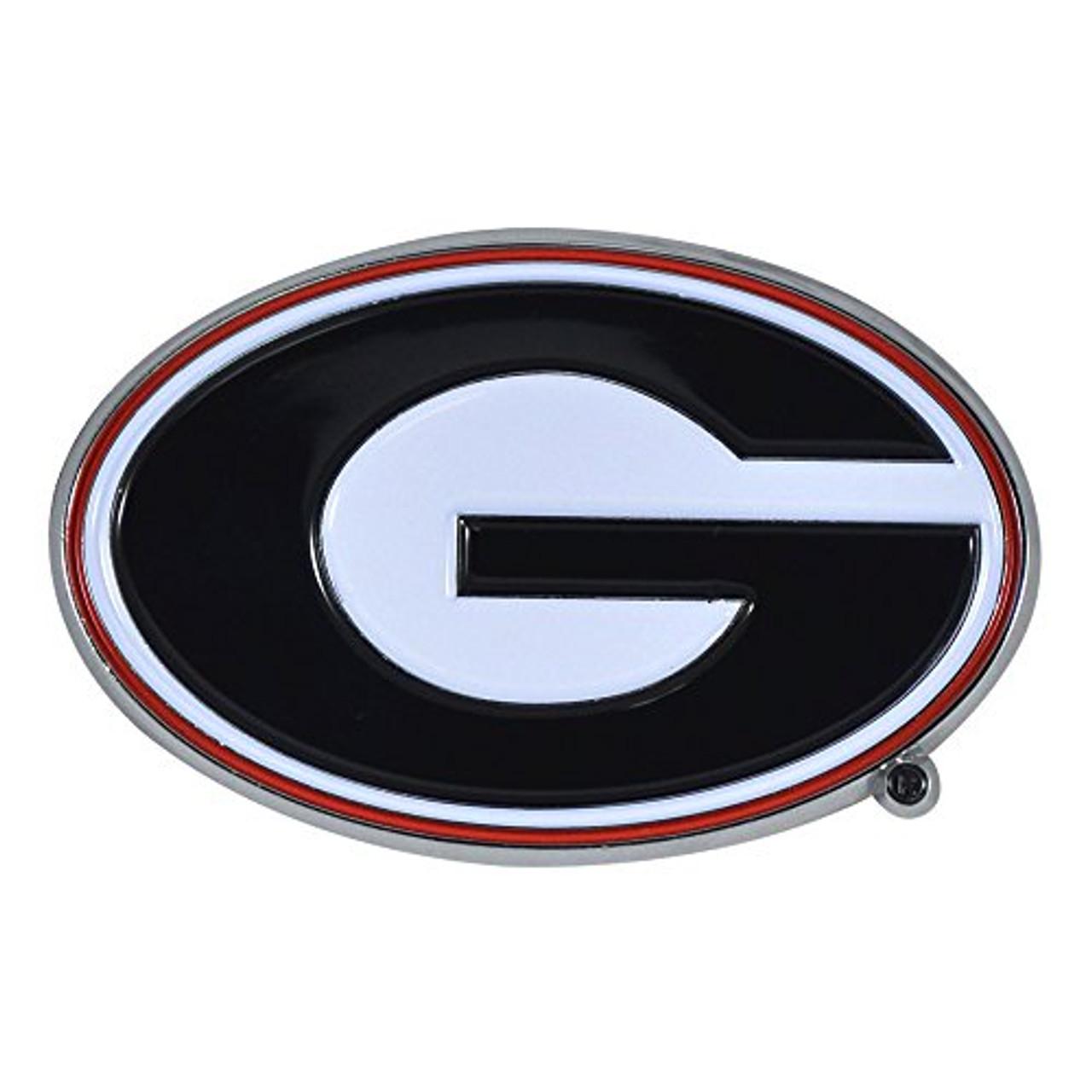 Fanmats University Of Georgia Bulldogs Logo Auto Color Metal Emblem