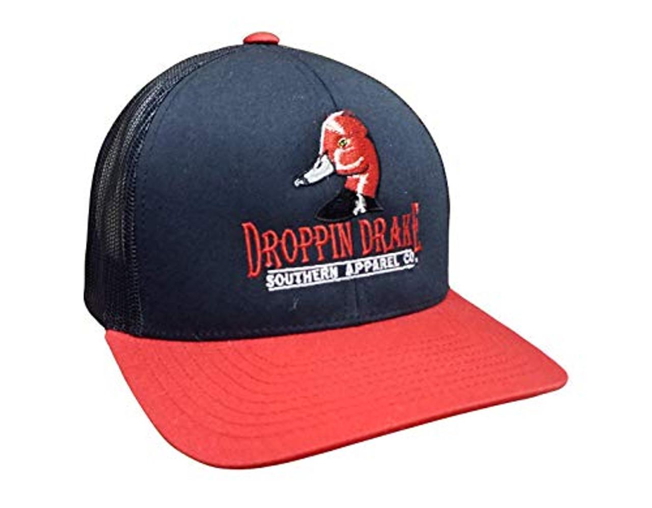 dbcec7b0e56 Droppin Drake Redhead Duck Logo Mesh Back Trucker Hat - Trenz Shirt Company