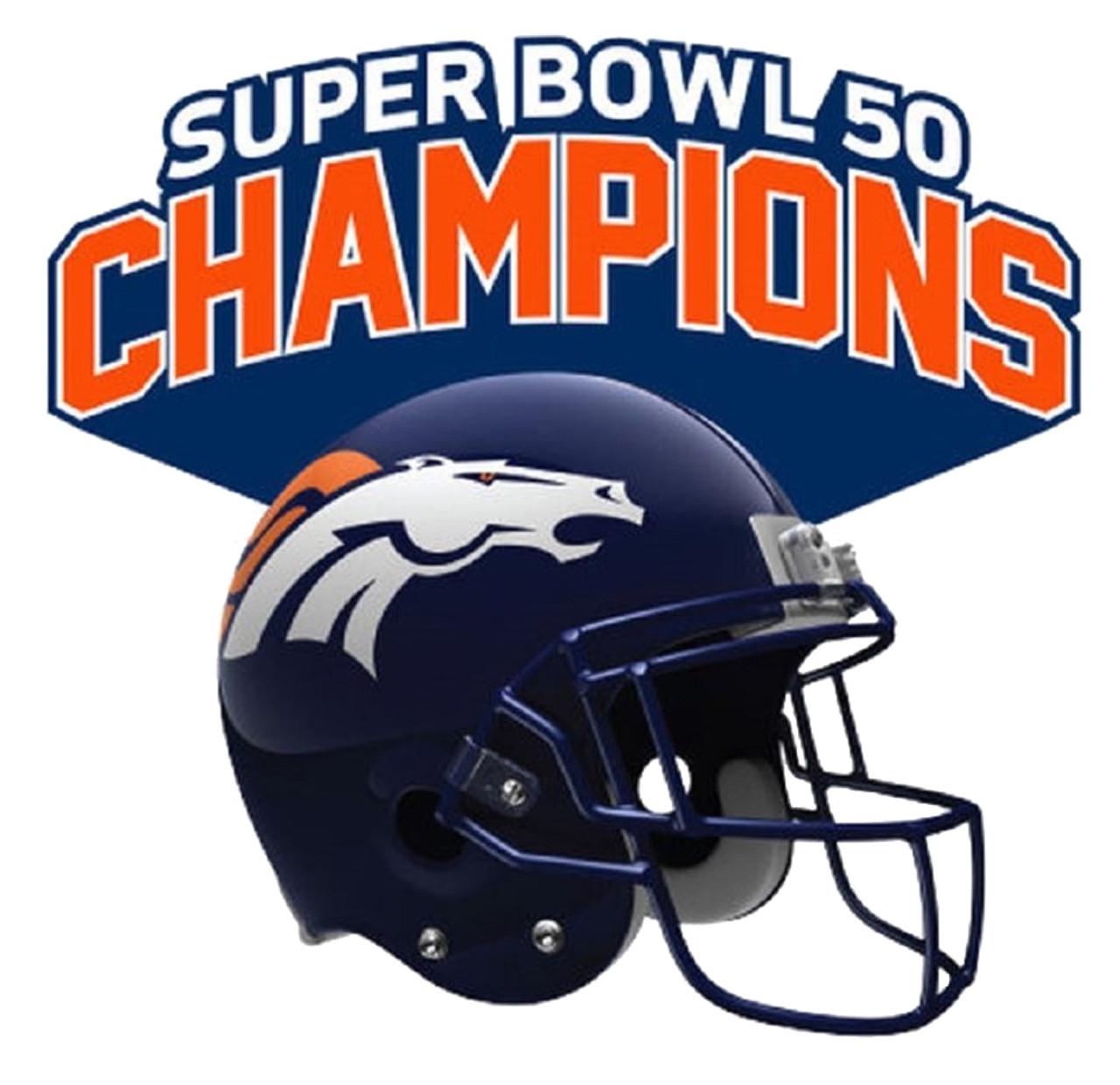 3eb232a6 Denver Broncos Super Bowl 50 Champions Free-form Acrylic Auto Emblem